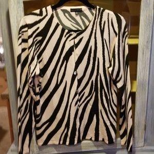 Carolyn Taylor Tiger Stripped Sweater L N70